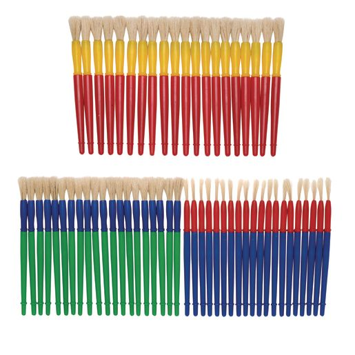 Colorations® Assorted Chubby Brush Super Pack - Set of 60