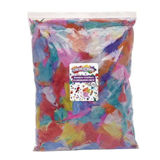 Image of Colorations Rainbow Feathers Classroom Pack - 8 oz.