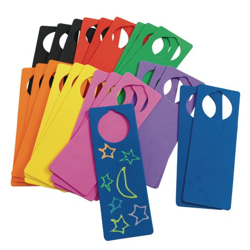 Colorations® Foam Door Hangers - Set of 24_0