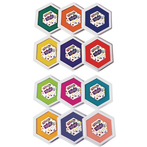 Image of Colorations Jumbo Washable Stamp Pads - Set of 12