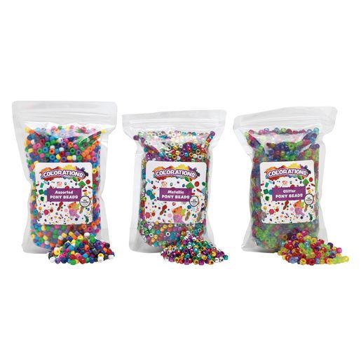 Set of all 3 Pony Beads - 3 lbs.
