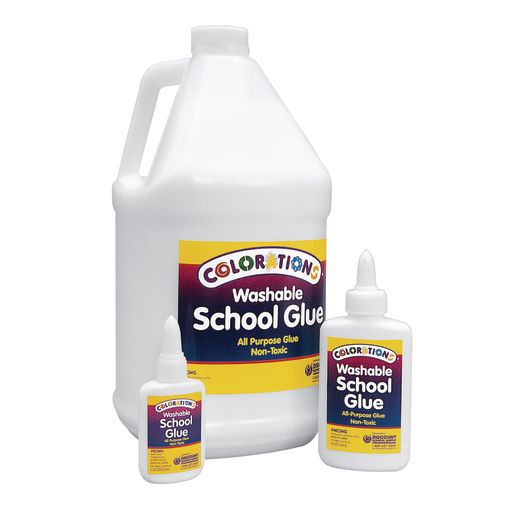 Colorations® Washable School Glue, 1.25 oz. - Set of 12