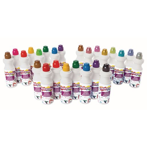 Image of Colorations Washable Chubbie Markers - Set of All 3