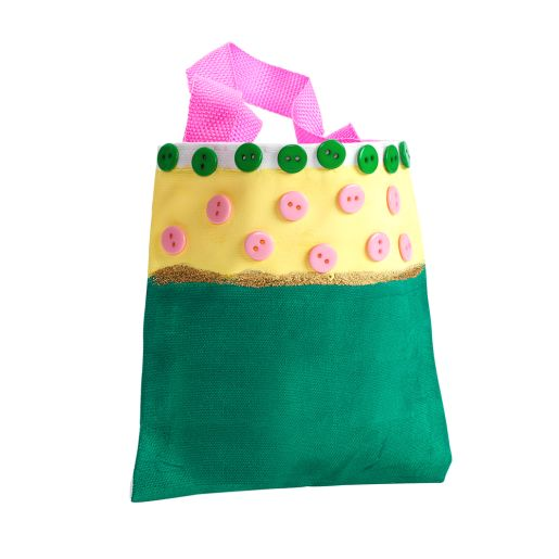 Image of Colorations Mini Canvas Tote Bags - Set of 24