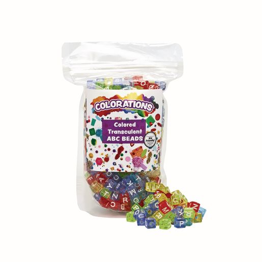 Colorations® Colored ABC Beads - 300 Pieces_1