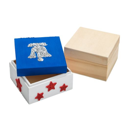 Image of Colorations Wooden Trinket Boxes - Set of 12