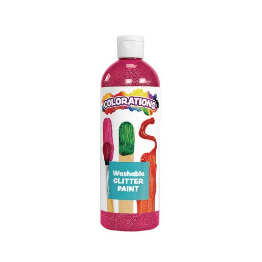 Colorations® Washable Glitter Paint, Magenta - 16 oz.