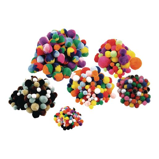 Image of Colorations Pom-Pom Classroom Pack - 700 Pieces