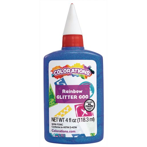 Colorations® Rainbow Glitter Glue, 4 oz. - Set of 6