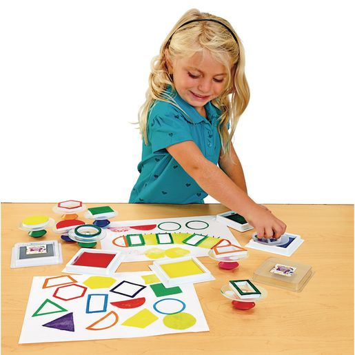Colorations® Easy-Grip Stampers, Shapes - Set of 14