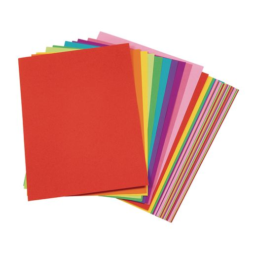 Image of Tru-Ray Bright Assorted Sulphite Paper, 9 x 12 - 50 Sheets