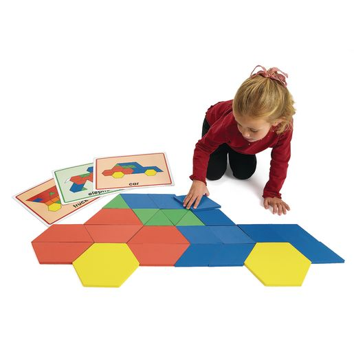 Excellerations® Giant Foam Pattern Blocks - 149 Pieces