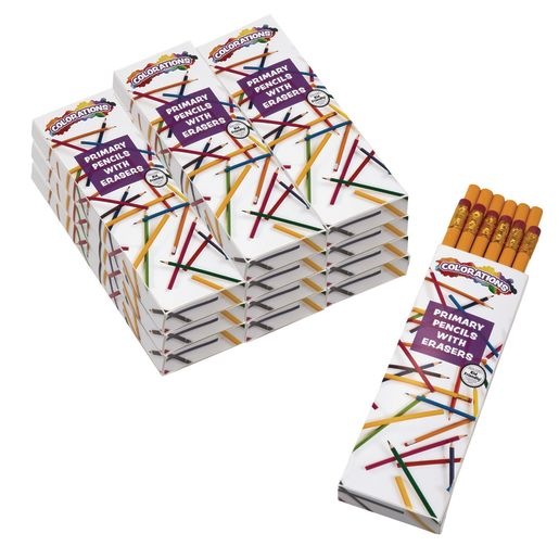 Colorations® Primary Pencils - With Erasers, Set of 144