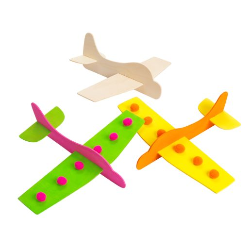 Colorations® Wooden Model Airplanes- Set of 12_0