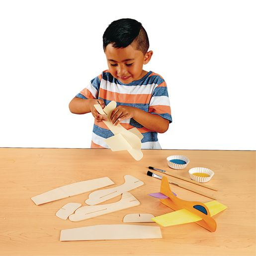 Colorations® Wooden Model Airplanes- Set of 12_1