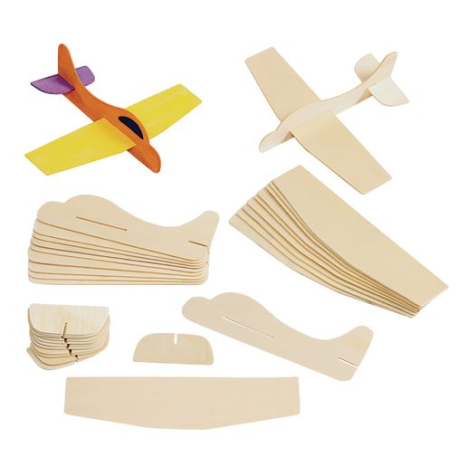 Colorations® Wooden Model Airplanes- Set of 12_3