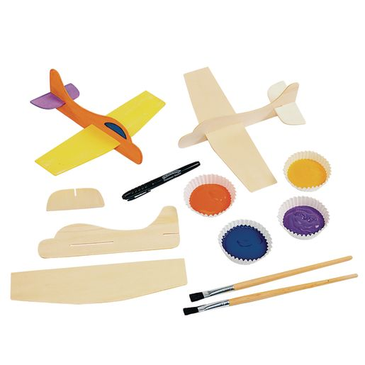 Colorations® Wooden Model Airplanes- Set of 12_4