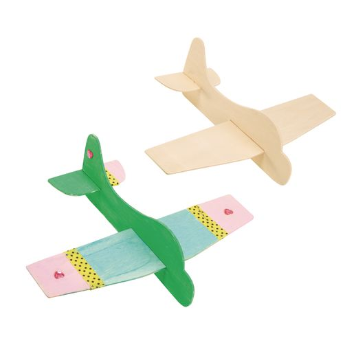 Colorations® Wooden Model Airplanes- Set of 12_6