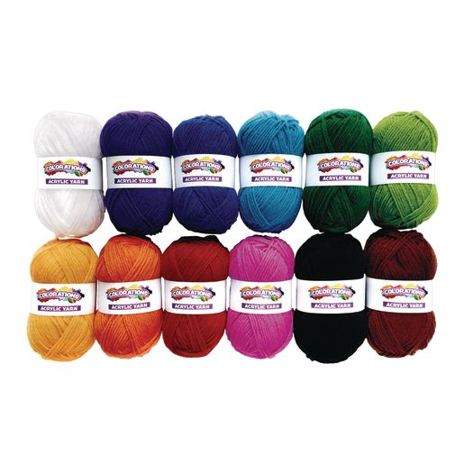 Image of Colorations Acrylic Yarn - Set of 12