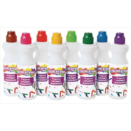 Colorations® Tropical Chubbie Markers - Set of 8