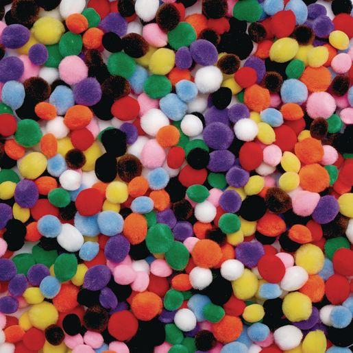 Image of Colorations Mini Pom-Poms - 450 Pieces