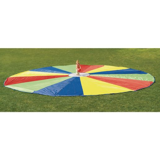Image of Excellerations Brawny Tough Rainbow Parachute - 30'Dia.