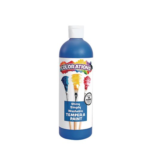 Image of Colorations Simply Shiny Washable Tempera, Blue - 16 oz.