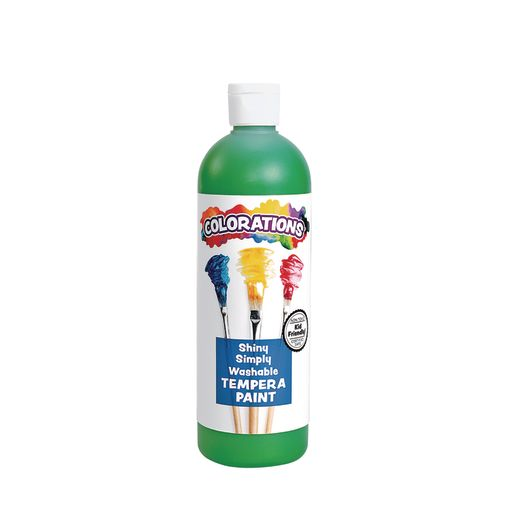 Image of Colorations Simply Shiny Washable Tempera, Green - 16 oz.