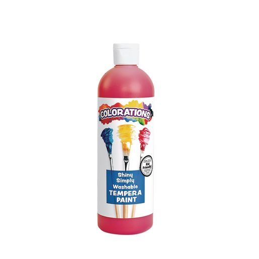 Image of Colorations Simply Shiny Washable Tempera, Red - 16 oz.
