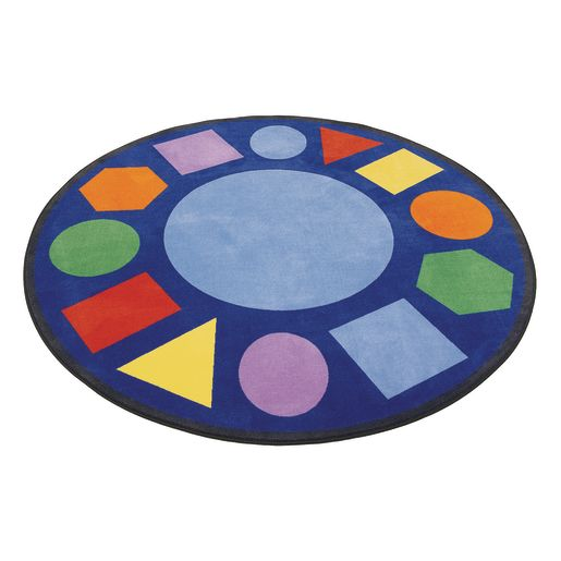 Image of Geometric Shapes Carpet - 6'6 Round