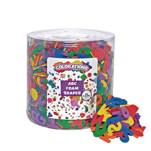 Image of Colorations ABC Foam Shapes in a Bucket - 1/2 lb.