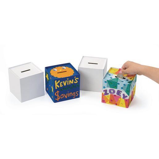 Colorations® Papier-Mâché Banks - Set of 12