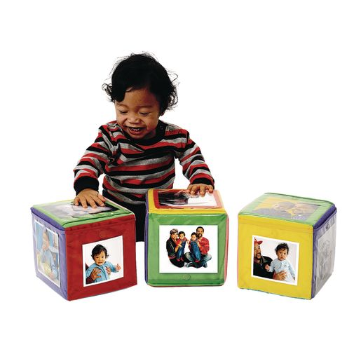 Image of Excellerations Infant Photo Cubes with Mirror - Set of 3