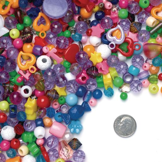 Colorations Assorted Bead Bucket, 2.5lb, approx 3500 Beads