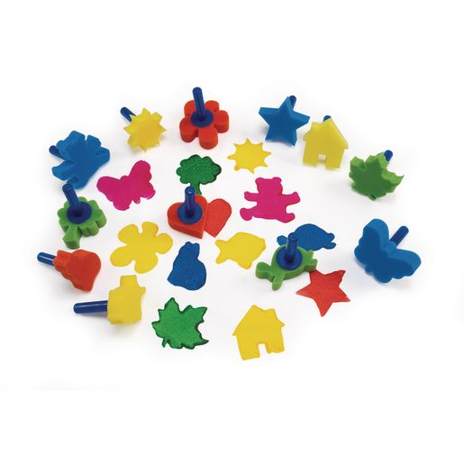 Colorations® Stumpy Sponge Stampers - Set of 12