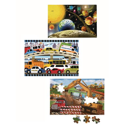 Jumbo Floor Puzzles - Set of 3