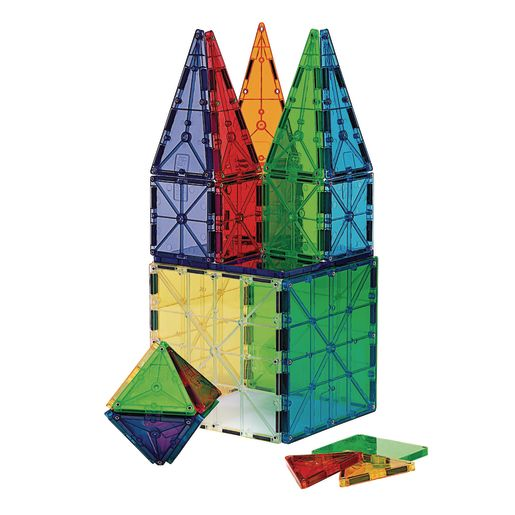 Magna-Tiles® Clear Colors - 100 Pieces