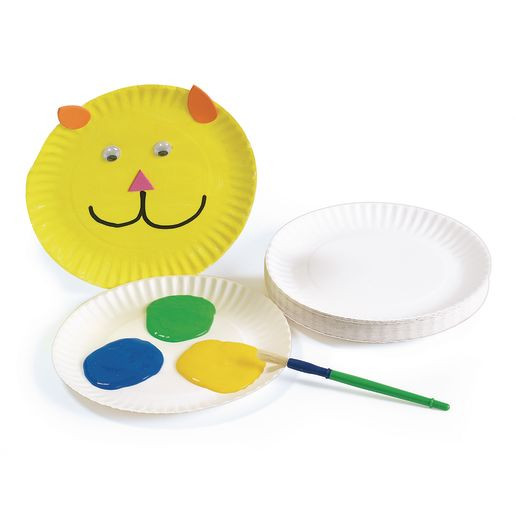 Image of 9 White Paper Plates - 100 Pieces