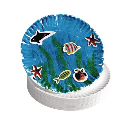 "9"" White Paper Plates - 100 Pieces"