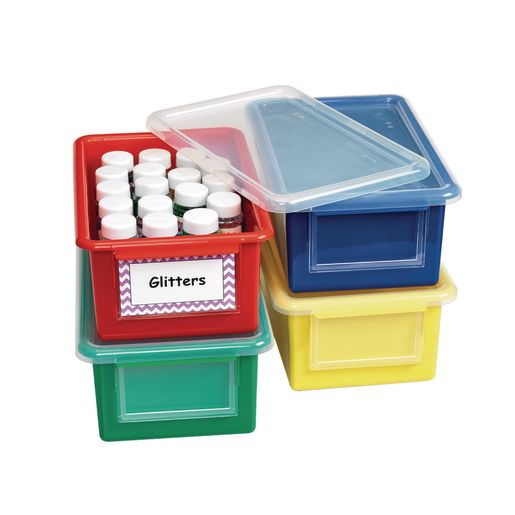 Easy Label Storage Bins and Lids - Set of 4