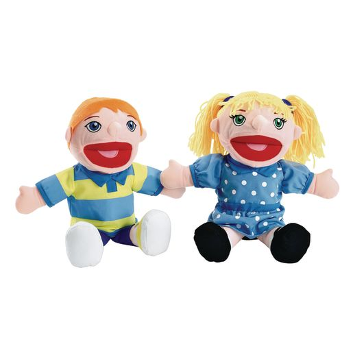 Image of Excellerations Caucasian Girl & Boy Puppet Pair