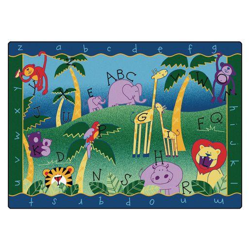 """Alphabet Jungle 4'5"""" x 5'10"""" Rectangle Premium Carpet"""