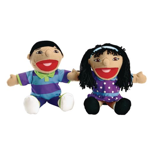Excellerations® Girl & Boy Puppet Pairs - Set of All 8