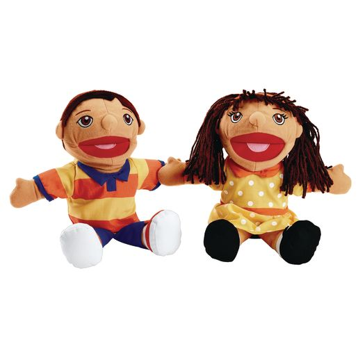 Image of Excellerations Hispanic Girl & Boy Puppet Pair