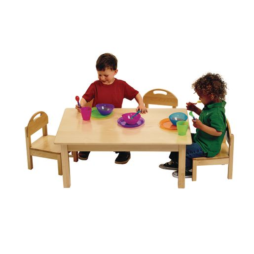 Image of Low Toddler Table & 4 Chairs