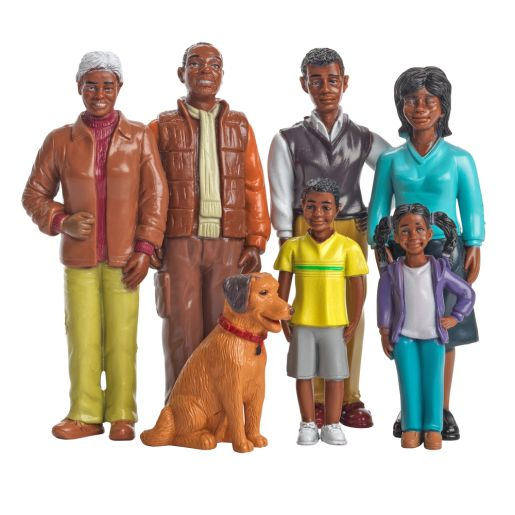 Image of Excellerations Pretend Play Figures - Extended African-American Family