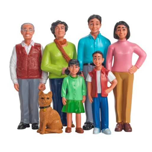 Image of Excellerations Pretend Play Figures - Extended Asian Family