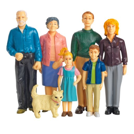 Image of Excellerations Pretend Play Figures - Extended Caucasian Family