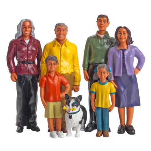 Excellerations® Pretend Play Figures - Extended Hispanic Family