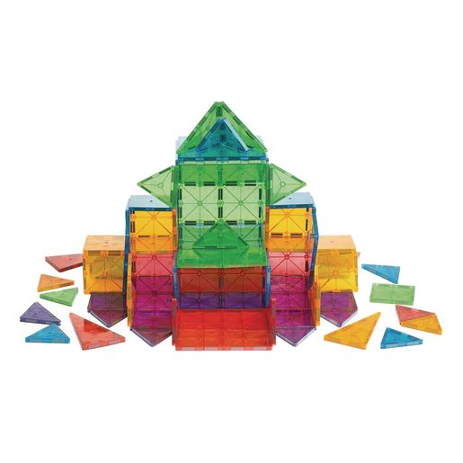 Magna-Tiles® Clear Colors - 100 Pieces